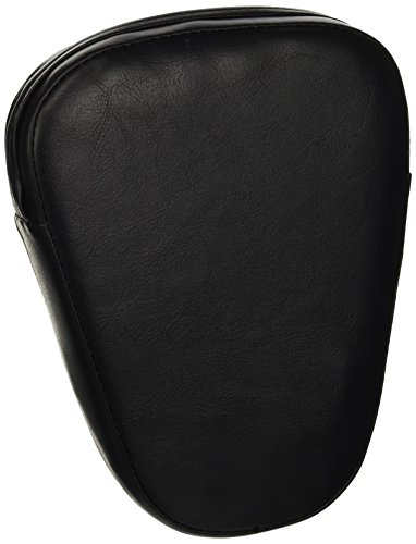 CICMOD Universal Motorcycle Synthetic Leather Rear Sissy Bar Backrest Cushion Pad - Black (Backrest Bar Sissy)