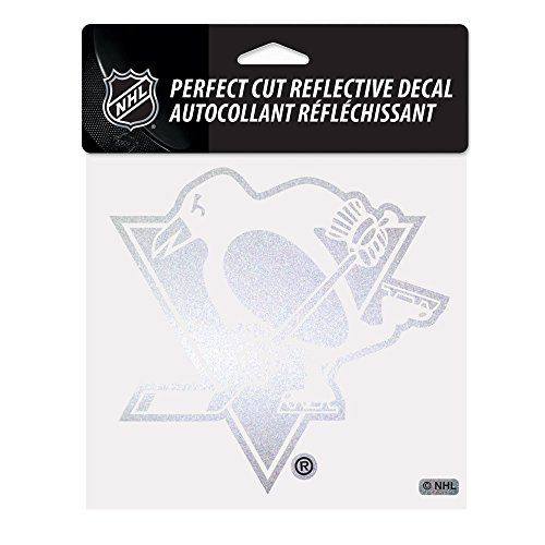 NHL Pittsburgh Penguins Perfect Cut Reflective Decal, 6 x (Penguin Window)