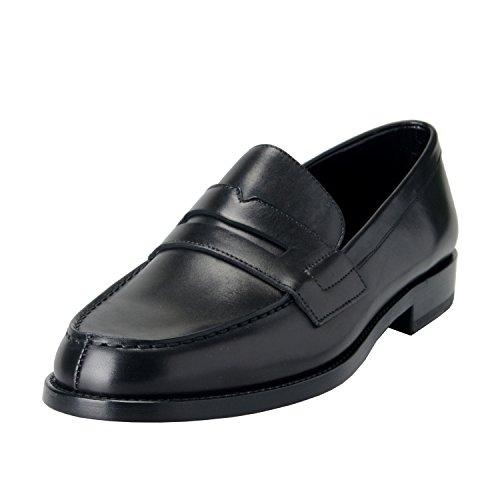 Saint-Laurent-Paris-Boxer-Womens-Leather-Black-Loafers-Shoes-US-10-IT-41