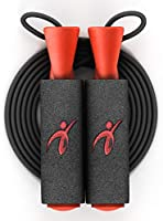 Adjustable Jump Rope with Carrying Pouch for Men and Women - Tangle-Free Skipping Rope for Gym Workout, Crossfit, Fitness...