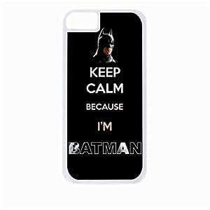 Keep Calm Choose Batman - kaleidoscope - Hard White Plastic Snap - On Case-Apple Iphone 4 - 4s - Great Quality!