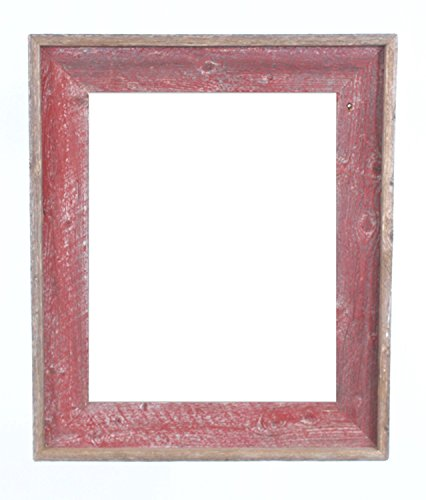 BarnwoodUSA Reclaimed Open Artisan Picture Frame (No Glass, or Backing) (16x20, Rustic Red)