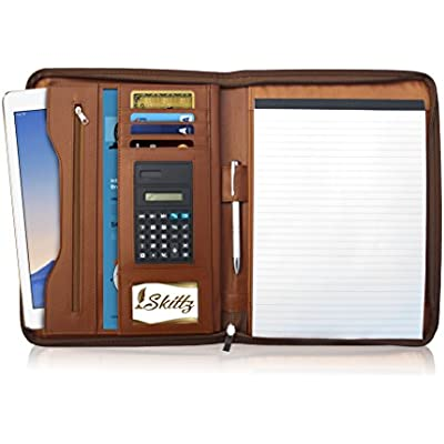 skittz-pu-leather-zippered-padfolio
