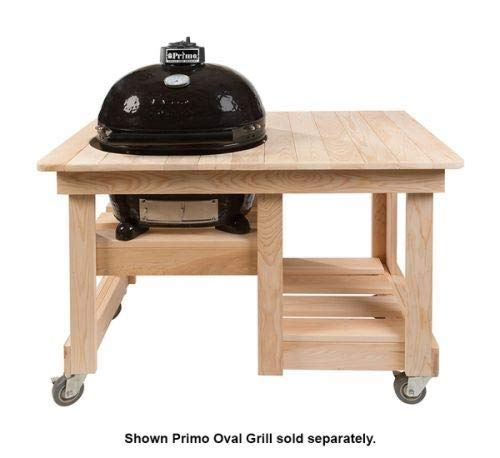Primo Ceramic Grills Oval JR 200 Cypress Counter Top Table by Primo
