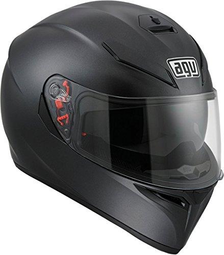 AGV 0101-7483 K-3 SV Motorcycle Helmet (Matte Black, X-Small) ()