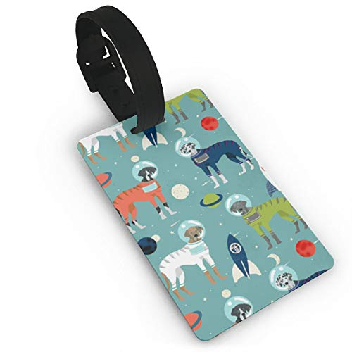 Great Dane Outer Space Astronauts Fabric Dog Luggage Tags Suitcase Luggage Tags Travel Accessories Baggage Name Tags