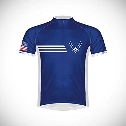 Primal Wear Men's U.S. Air Force Vintage Cycling Jersey, Blue, (Primal Wear Mens Air)