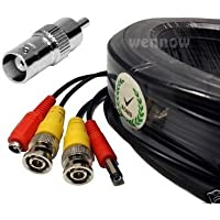 WennoW Premium Quality 165Ft Video Power BNC RCA Cable for Night Owl CCTV Security Camera