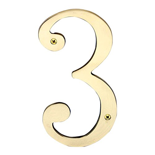 3' Cast Brass House Number (Cast Solid Brass 8