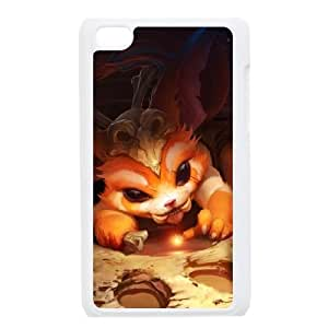 iPod Touch 4 Case White League of Legends Gnar EUA15999102 Generic Clear Cell Phone Cases
