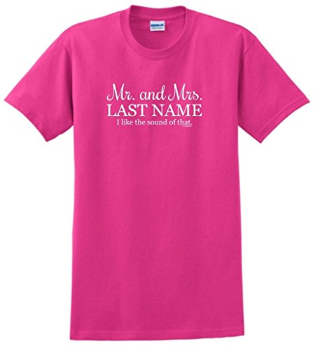 Custom Flutes Color (Customized Wedding Gifts Personalized Wedding Mr and Mrs Your Name Custom T-Shirt Large Hlcna)