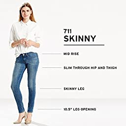 Levi\'s Women\'s 711 Skinny Jean, Mountain Sound, 28Wx32L