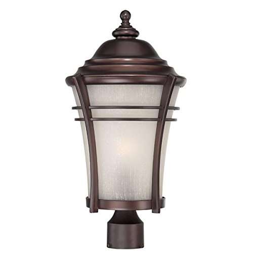 Acclaim 39627ABZ Vero Collection 1-Light Outdoor Light Fixture Post Lantern, Architectural Bronze by Acclaim