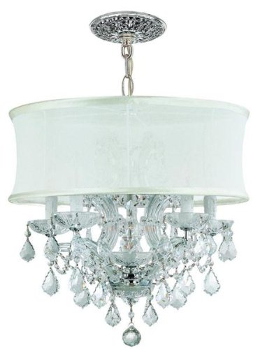 Cls Traditional Crystal Chandelier - Brentwood 6 Light Chandelier Finish: Polished Chrome, Crystal Type: Swarovski Strass