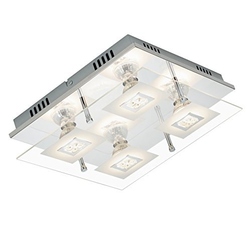 Briloner Leuchten Deckenleuchte LED Lampe Deckenlampe Strahler Spots Wohnzimmerlampe Deckenstrahler Wohnzimmer Deckenspot