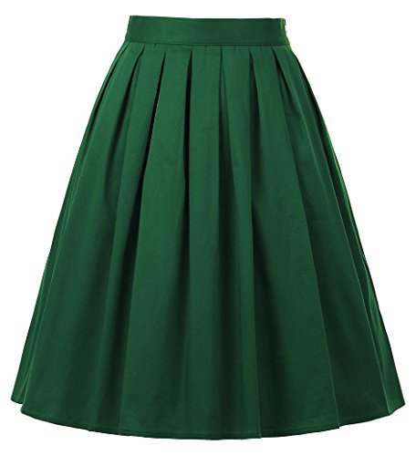 Karen Will And Grace Halloween (Vintage Pleated Midi Skirt A-Line Green Size XL)