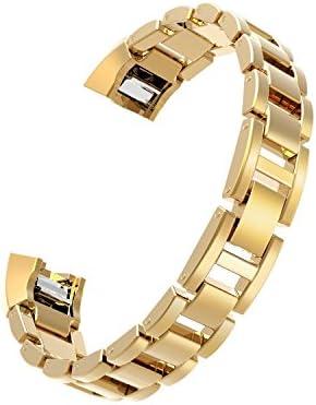 Wearlizer Für Fitbit Alta HR Armband, Smart Watch Metall Ersatzband