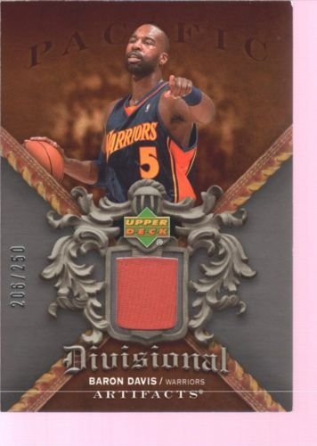 Warriors Baron Davis (BARON DAVIS 2007-08 UD ARTIFACTS GAME USED WORN JERSEY PATCH WARRIORS /250 $12)