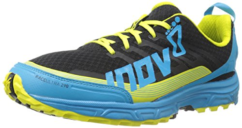 Inov-8 Men's Race Ultra 290 Trail-Running Shoe, Black/Blue/Lime, 9.5 M US