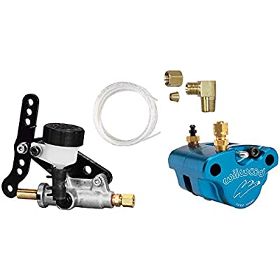 "NEW WILWOOD GO KART BRAKE SET WITH CALIPER, PADS, MASTER CYLINDER, AND LINE KIT FOR 3/16"" ROTORS, GREAT FOR KARTING, JR. DRAGSTER, ETC: Automotive"