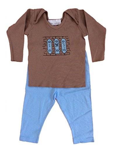Toni Tierney Baby Boys' Skate Tee and Pant Set 12 ()
