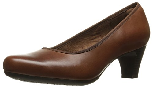 (Rockport Women's Hezra Dress Pump, Almond Leather, 7.5 M US)