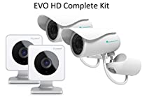 EVO HD Smart Home Wireless Security Camera – Night Vision – Free Cloud Storage – Motion Alerts – Hidden Nanny and Surveillance Camera – Easy Set up - 2 EVO + 2 Outdoor