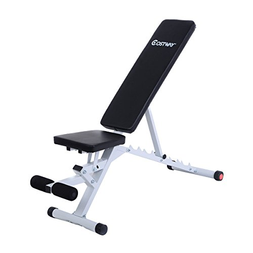 Superbuy New Adjustable Sit Up Ab Incline Bench Abdominal Board Flat Fly Weight Press Gym