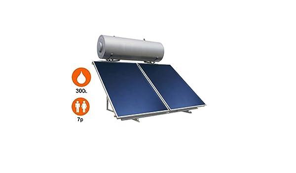 Agua caliente solar 2 sensores + Balón 300 litros - eklor: Amazon.es: Iluminación