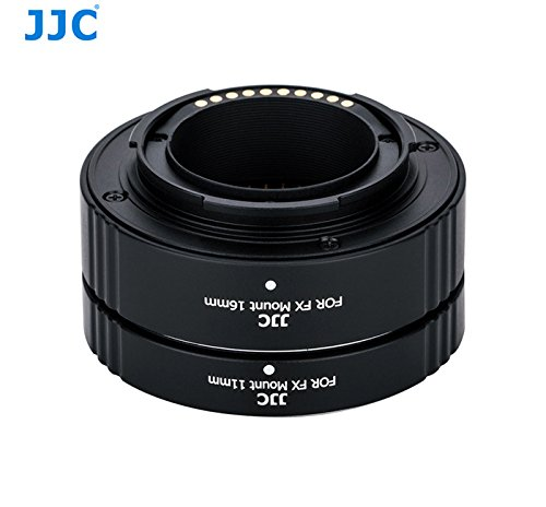 JJC AET-FXS Auto Focus Automatic Extension Tubes (11mm, 16mm Set), compatible with Fujfifilm X-Mount Mirrorless Cameras by Fotasy