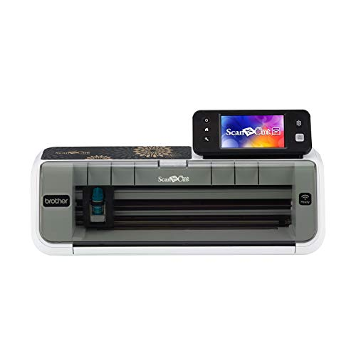 "Systems Die Cutting (Brother CM350 Electronic Cutting Machine, Scanncut2, 4.85"" LCD Touch Screen, Wireless Network Ready, 300 DPI Scanner, 631 Built-in Designs)"
