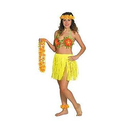 PAMS S Vestido hawaiano Kauai playa Lei Fiesta Accesorio Disfraz de Mujer Decoración Colores –