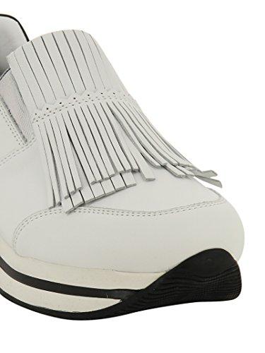 Hogan Femme HXW2220X170DZF016U Blanc Cuir Baskets