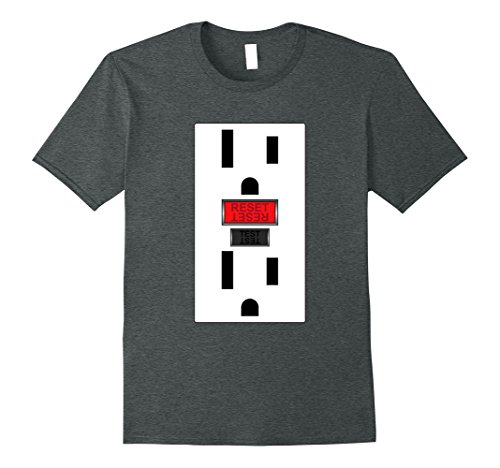 Nerd Costume Ideas For Couples (Mens Electrical Outlet, Funny Simple Halloween Tshirt XL Dark Heather)