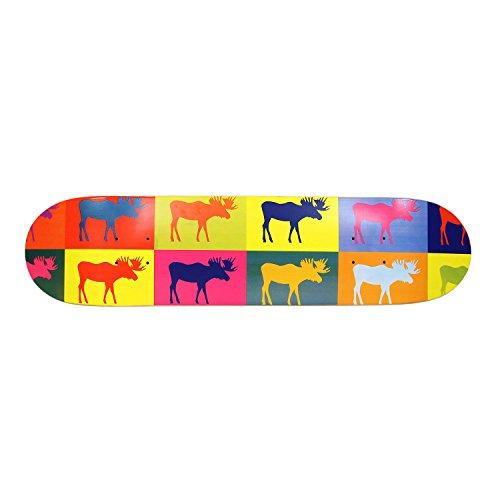 Skate Deck Art - Moose Pop Art Deck 7.5