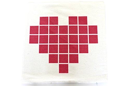 Valentines Day Covers Pillowcases Throw Pillows Sofa Bedding Home Decor Cushion Cover (17X17 BLOCK HEART), Minecraft Pillow Case, Heart Pillow, Heart Décor For Home, Heart Decorative Pillows