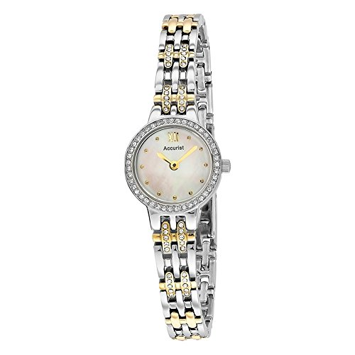 Accurist LB1446 Ladies Two Tone Watch and Bracelet Gift Set