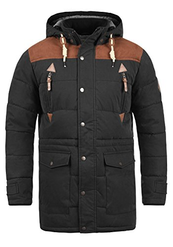 Da Jacket Uomo 9000 Invernale Black Giacca Dry Long Solid pfHqvv