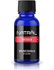 NATRÄL Wintergreen, 100% Pure and Natural Essential Oil, Large 1 Ounce Bottle