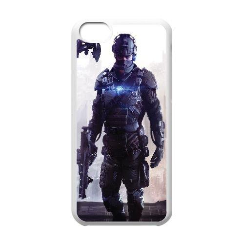 E4K22 Killzone: Shadow Fall R7B3KH cas d'coque iPhone de téléphone cellulaire 5c couvercle coque blanche XD9SHP1AP