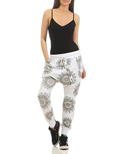 Taglia sportivi cotone larghi jogging Casual Bianco Pantaloni da in moda da sportivi 44 donna Pantaloni ZARMEXX pantaloni Boyfriend unica Pantaloni alla 40 larghi FwaUq6q