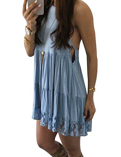 light blue short dress - 9