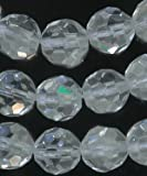 Quartz Rock Crystal 10mm Genuine Faceted Round 15.5 Inch Strand