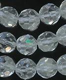 Quartz Rock Crystal 10mm Genuine Faceted Round 15.5 Inch Strand