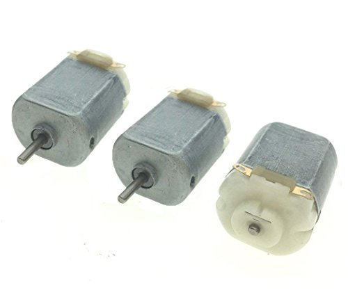 YXQ DC 3-12V 10000RPM Electric Mini Motor High Torque for DIY Toys, 2mm Shaft(3-Piece)