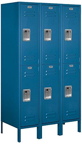 Salsbury Industries 62358BL-U Double Tier 36-Inch Wide 5-Feet High 18-Inch Deep Unassembled Standard Metal Locker, Blue
