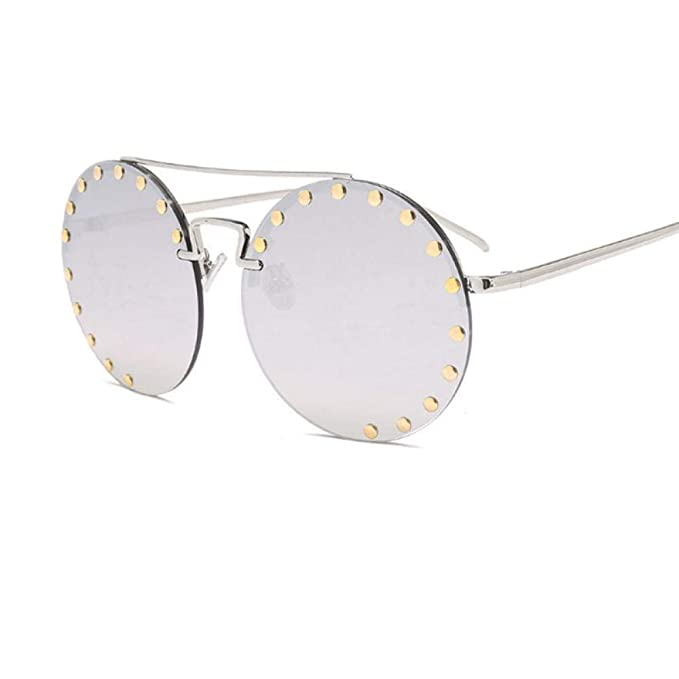 Amazon.com: Vintage Round Sunglasses Women Retro Rivets ...