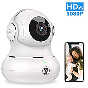 1080P Indoor Wireless WiFi Home IP Security Camera – Littlelf Panoramic Pet Camera, Baby Monitor with 2-Way Audio, Night Vision, Remote Monitor with iOS & Android App, Micro SD Card or Cloud Storage