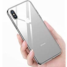 iPhone Xs MAX Case, Shockproof Crystal Clear Slim Thin Soft TPU 4 Corners Bumper Protection Gel Bumper Mobile Phone Flexible Cover Case for Apple iPhone Xs Max 6.5 Inch 2018 (Clear)