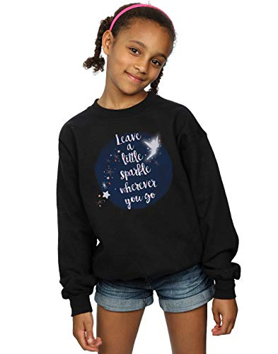 Fille Disney Noir Sweat A Tinker Little Bell Sparkle shirt Baadxqw